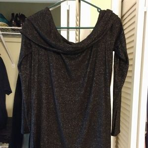 Sweaters - Off Shoulder Dark Charcoal Sweater, L, NWT